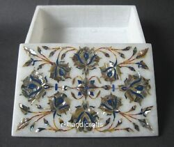 6 X 4 Inches Marble Trinket Box Hand Inlaid Bangle Box With Abalone Shell Stone