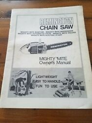Vintage Original 70s Mighty Mite Chain Saw Owners Manual Book