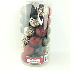 41 Red Gold Christmas Tree Shatterproof Ornament Bauble Party Decoration
