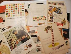 Reseller Lot 125 + Food Related Vintage Advertisements Ads Lifesavers Planters