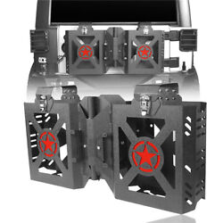For Jeep Wrangler Jk 2007-2018 Double Jerry Gas Can Holder Tailgate Mount Rack