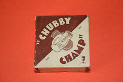 Antique 1940's Chubby Champ Miniature Leather Boxing Gloves W/ Box