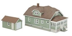 Walthers Ho Scale Updated American Bungalow House With Garage Kit 933-3791