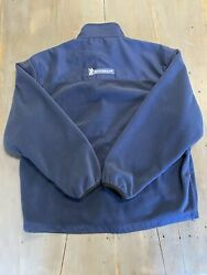 Mens Full Zip Fleece Michelin Tires Embroidered Jacket Size Xl Blue