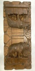 Antique Black Forest Carved Wood Bears Brienz Switzerland Expandable Book Ends