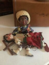 Authentic Vintage Mexican Marionette Collectible Duo