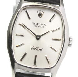 Rolex Cellini 3803 K18wg Cal.1600 Silver Dial Hand Winding Ladies Watch_597148