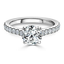 0.98 Ct Real Diamond Women Engagement Ring Solid 950 Platinum Rings Size 8 9 11