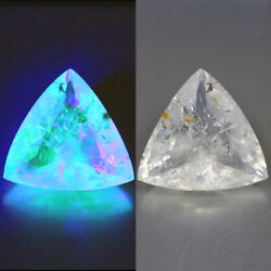 6.07 Cts 100 Natural Untreated White To Green Uv Color Change Hyalite Opal