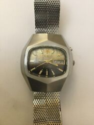 Rare Orient Watch 21 Jewels Crystal Automatic Ref. F469665-4a Pu 70and039s-80and039s