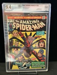 Amazing Spiderman 135 Graded 9.4 2nd Full App Of The Punisher