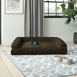 Dog Pet Bolster Large Sofa Bed Couch Chair Seat Couch Cushion Orthopedic Suede