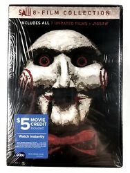 Saw 8-film Collection Dvd Brand New Factory Sealed W/ Jigsaw Horror Widescreen