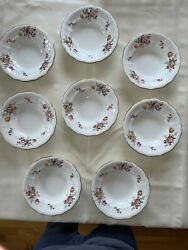 """Royal Crown Derby Posies - 8 Soup Dishes 8 5/8"""". Sold Separately."""