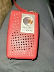 Best Ever Solid State 10 Transistor Portable Radio Box Rare Avocado Green 1970and039s
