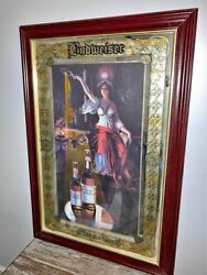 Vintage Budweiser Mirror Of Truth No N7740 Made In U.s.a Collectible