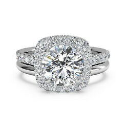 1.00 Ct Real Diamond Engagement Ring Solid 950 Platinum Womenand039s Band Set 5 7 8 9