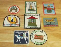 Collectable Lot Of 8 Euclid Beach Park Patches Vtg 90s 00s Cleveland Ohio