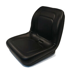 Black High Back Seat For John Deere Gg420-33358 Gg42033358 And Genie 123137 Mower