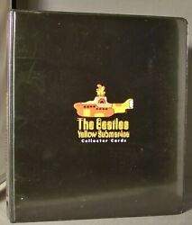 Beatles Yellow Submarine Trading Cards Set, Binder, And Promo Sheer 1999 Duocards