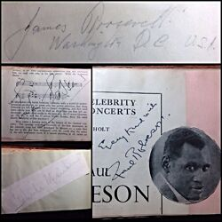 1930and039s Uk Album Signed By Rare Celebrity Autographs During The Queens Coronation
