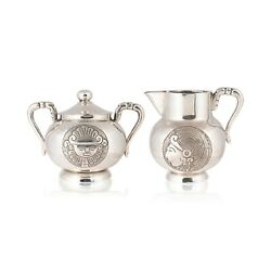 Mexican Hand Wrought Silver Cream And Sugar