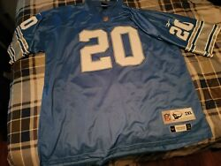 New Authentic Sewn Reebok Throwback Jersey Size Xxl Barry Sanders Detroit Lions