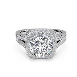Real 0.94 Ct Diamond Bridal Engagement Ring Solid 950 Platinum Rings Size 11 12