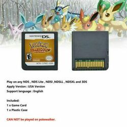 Pokemon Heartgold Version Nintendo Game Card For 3ds Ndsi Nds Christmas Gift Uk