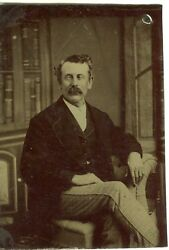 Ferrotype Tintype - Homme Qui Louche - Strabisme Strabismes -physical Particular