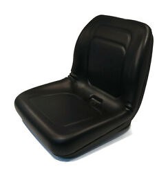 Black High Back Seat For Woods Cz1948k Mower With 19hp Kawasaki Engine, 48 Deck