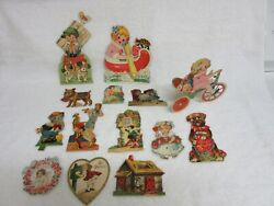 Vintage Valentine Cards Lot Of 14 1930and039s-1940and039s All From Germany Many Action