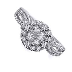0.37 Ct Simulated Engagement Ring In 10k White Gold Best Selling