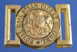 Royal Mail Steam Packet Company Victorian Officers Crew Gilt Belt Buckle 1880and039s