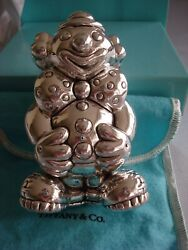 Sterling Silver Baby Rattle Clown Pouch,box,bag Rare And Fabulous