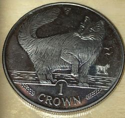 Isle Of Man 1991 Elizabeth Ii Maine Coon Cat Coin Medal Token As Is Circulated