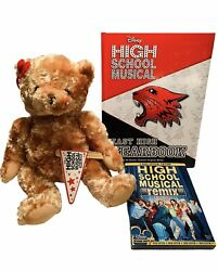 Disney High School Musical Collector Lot Dvd Plush Bear And East High Yearbook