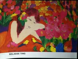Dames Aux Fleurs - Flower - Lady By Walasse Ting,oversize Print