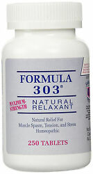 Formula 303 Maximum Strength Natural Muscle Relaxant For Spasms And Cramps