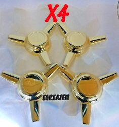 3 Bar Thread Straight Mount Spinners Dome For Cragar Starwire Wheels Set Of 4