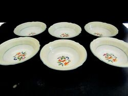 6-berry Bowls -j And G Meakin-leaves And Fruit-yellow-green-blue-sol-391413-