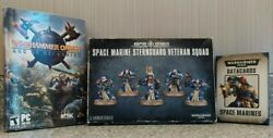 Warhammer 40k Lot Space Marine Sternguard Figures 2005 + Data Cards And Video Game