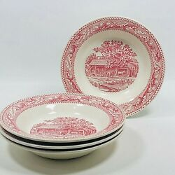 Lot Of 5 Memory Lane Salad Bread Plates Royal Ironstone 6-1/4 In. Preowned
