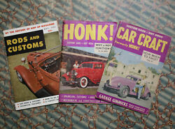 1s 1953 Hot Rod And Custom Car Craft Honk 1932 Ford Barris Pinup Bonneville Race