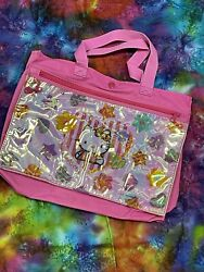 Vintage 1993 Sanrio Hello Kitty Tote School Bag 90s Flowers 🌸 $60.00