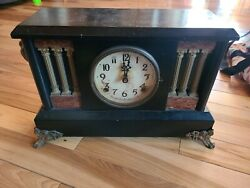 Vintage Mantle Clock Circa 1865 11 Tall Ingraham Converted To Battery.parts