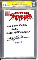 Avenging Spider-man 1 Cgc Ss 9.6 Neal Adams Writes Famous Stan Lee Quote