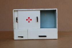 Old Antique Vintage Wooden Medical Box First Aid Chest Cupboard Rustic 1960's