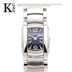 Bvlgari Assioma Quartz Stainless Steel Womenand039s Dress Watch Aa26bs Used