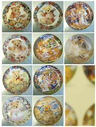 10 X Franklin Mint Teddy Bear Collectors Plate Collection